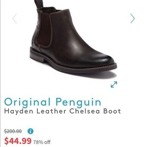 Stylish leather Chelsea boots brown